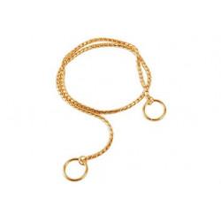 Zatezna ovratnica zlata - 65cm