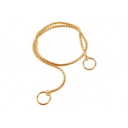Zatezna ovratnica zlata - 80cm
