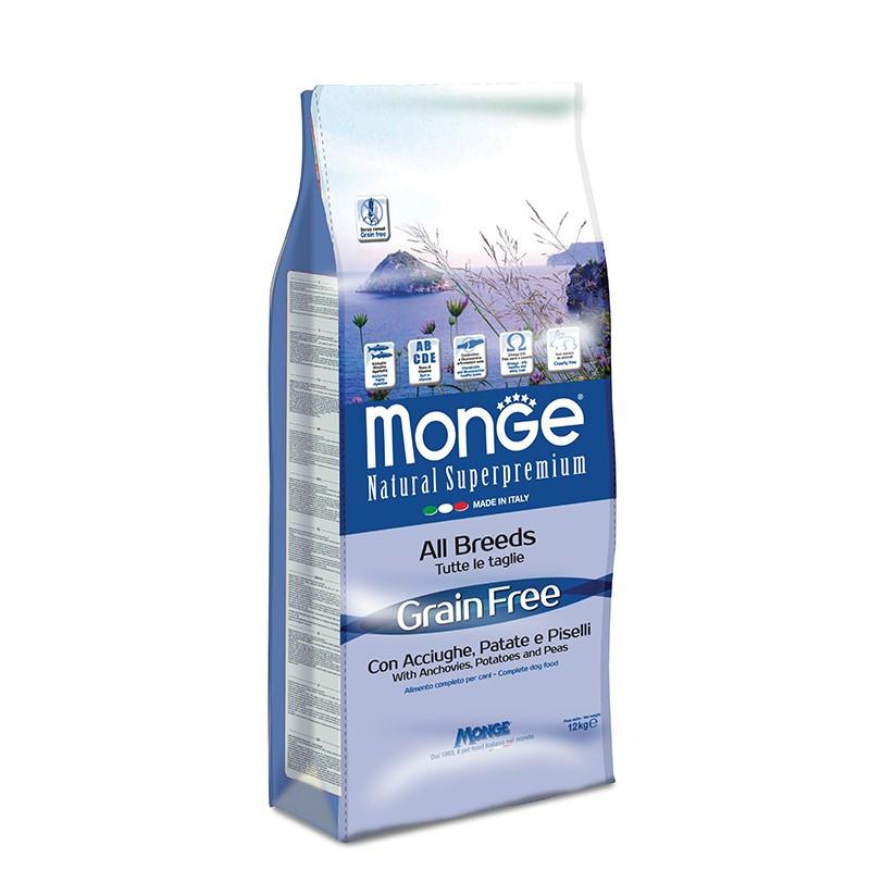 Monge All breed Grain Free - Inčuni 12kg