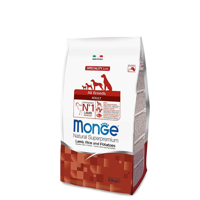 Monge All breed Adult - Jagnjetina 2,5kg