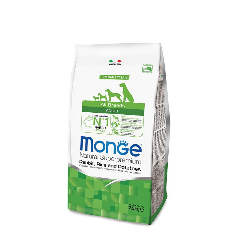 Monge All breed Adult - Zajec 2,5kg
