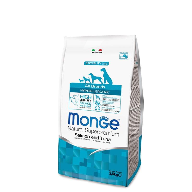 Monge All breed Adult Hypoallergenic - Losos&Tuna 2,5kg
