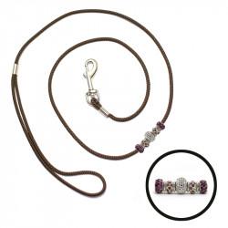 Natis razstavni povodec s karabinom 3mm – perla