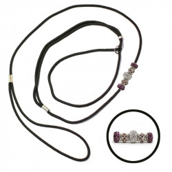 Natis nastavljiv povodec 3mm – perla